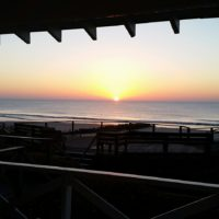 sunrise at sea view